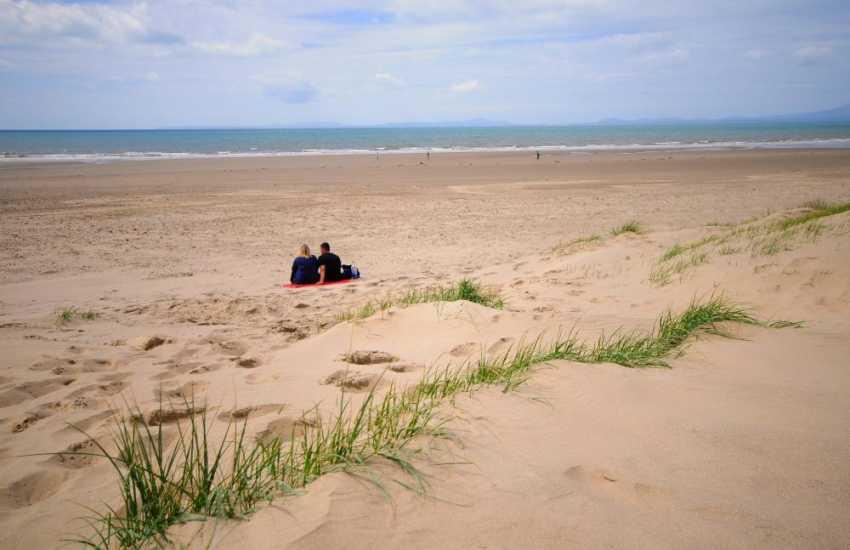 The wonderful sandy beach at Shell Island