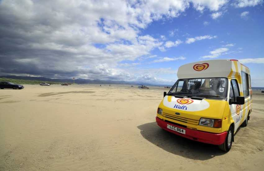 Black Rock sands is a drive on beach, ideal for families with elderly or small children