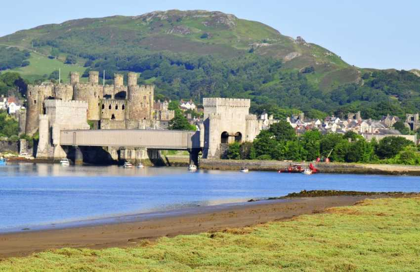 The impressive Conwy Castle, in the care of the National Trust