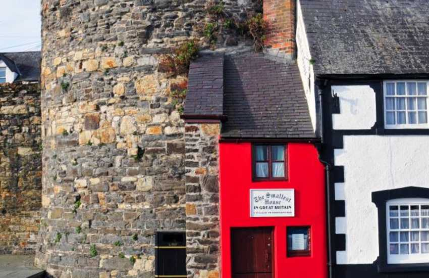 Britain's smallest house on the Quay in Conwy