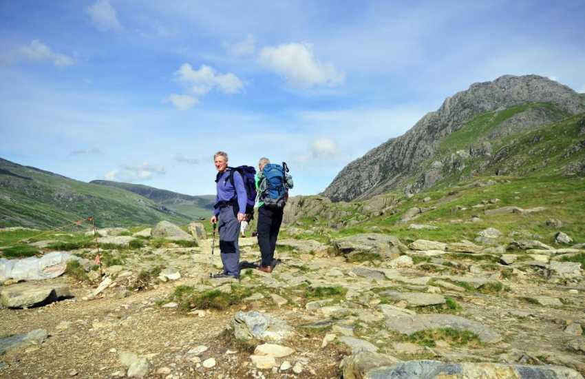 Walkers in the mountains of North Wales