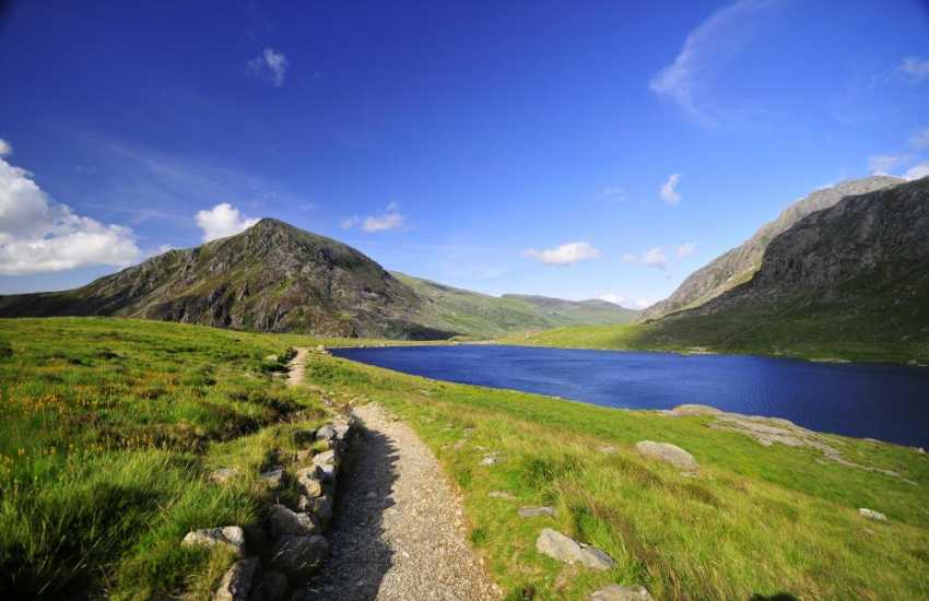 The stunning Cwm Idwal, a hanging valley in the Glyderau range of mountains in northern Snowdonia