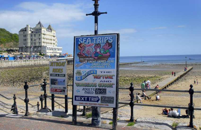 Llandudno Victorian seaside town, with great beach and plenty of restaurants to choose from