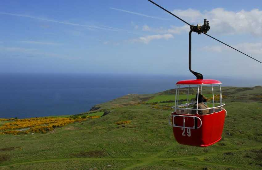 The cable car ride to the top of the Great Orme