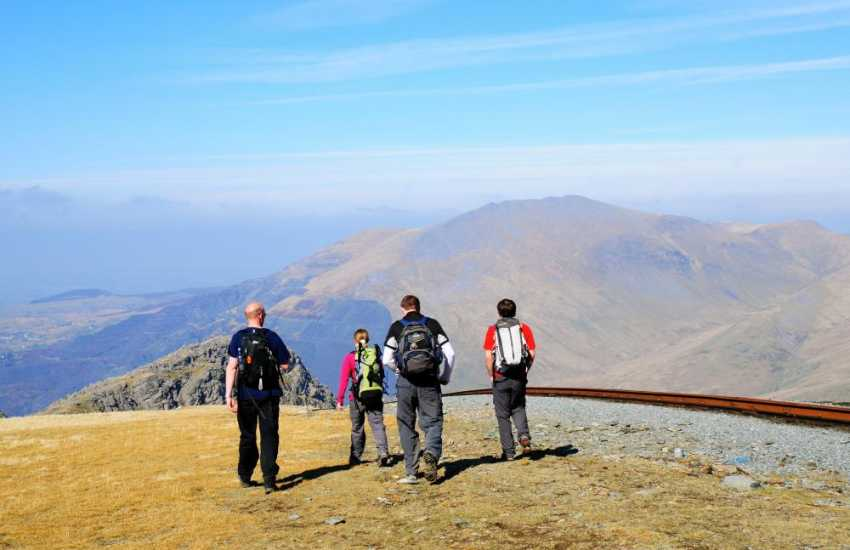 Snowdon mountain Railway takes you to the rooftop of Wales or you could walk up