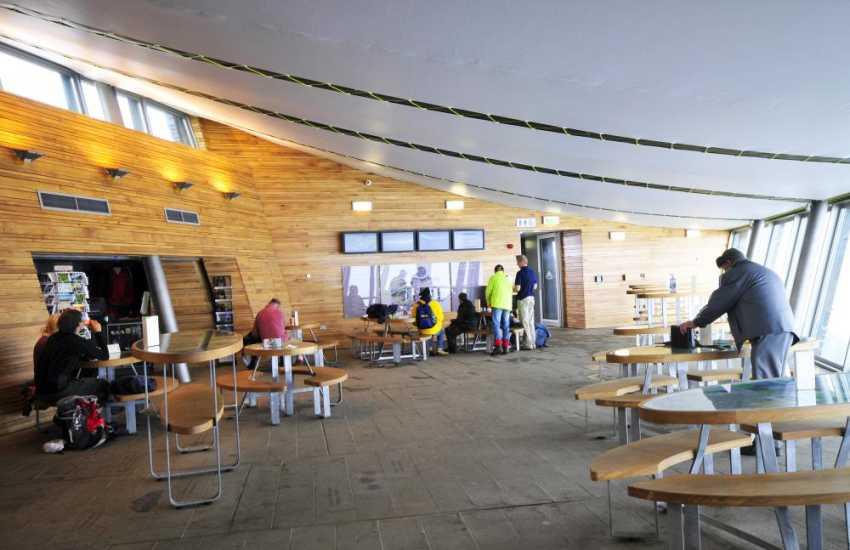The new cafe and visitors centre at the summit of Snowdon