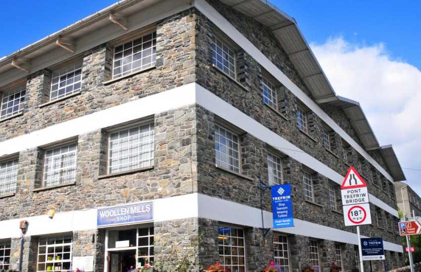 Trefriw Woollen Mill - There is an extensive shop and wonderful cafe