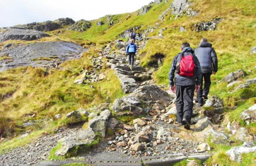 Walking in Snowdonia or on the coastal path, the opportunities for quiet walks here are endless