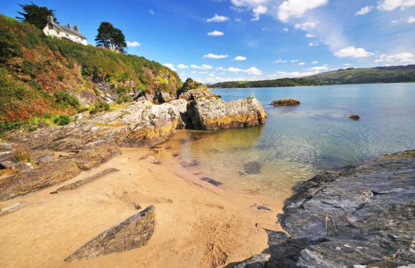 Gorgeous golden sandy coves around Borth y Gest