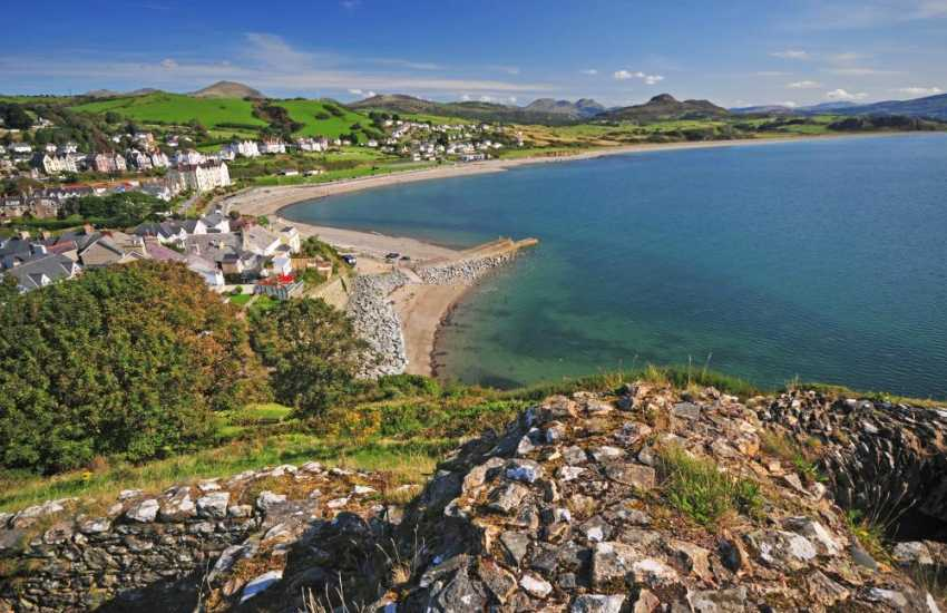 The fantastic Criccieth beach and Castle is well worth a visit!