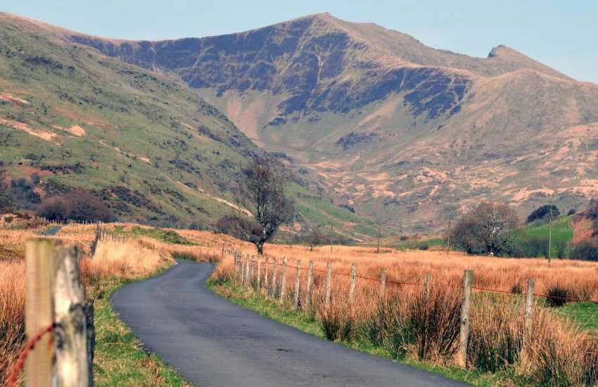 The quiet country lanes winding through the incredible Cwm Pennant Valley