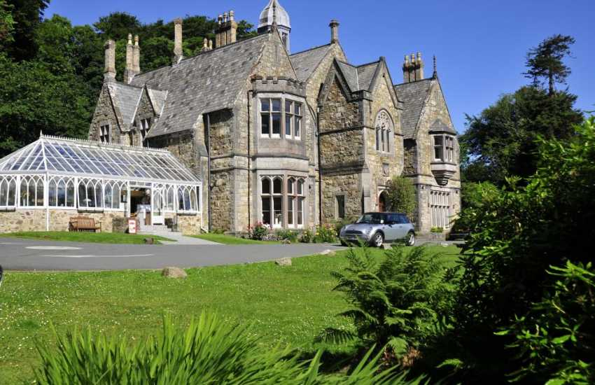 The oldest art gallery in Wales, Plas Glyn Y Weddw. You can eat here in their great restaurant - choose to sit inside or out