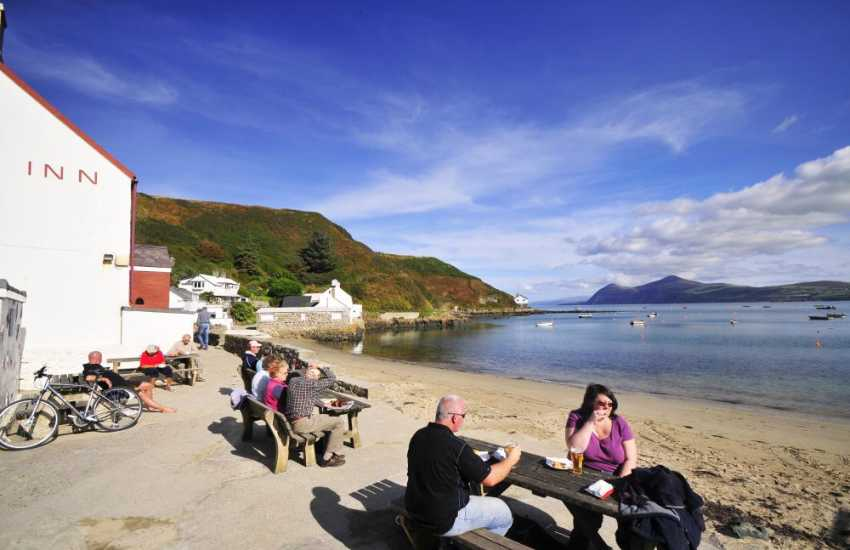 Do stop by for a drink at the Ty Coch Inn on the beach at Porthdinllaen