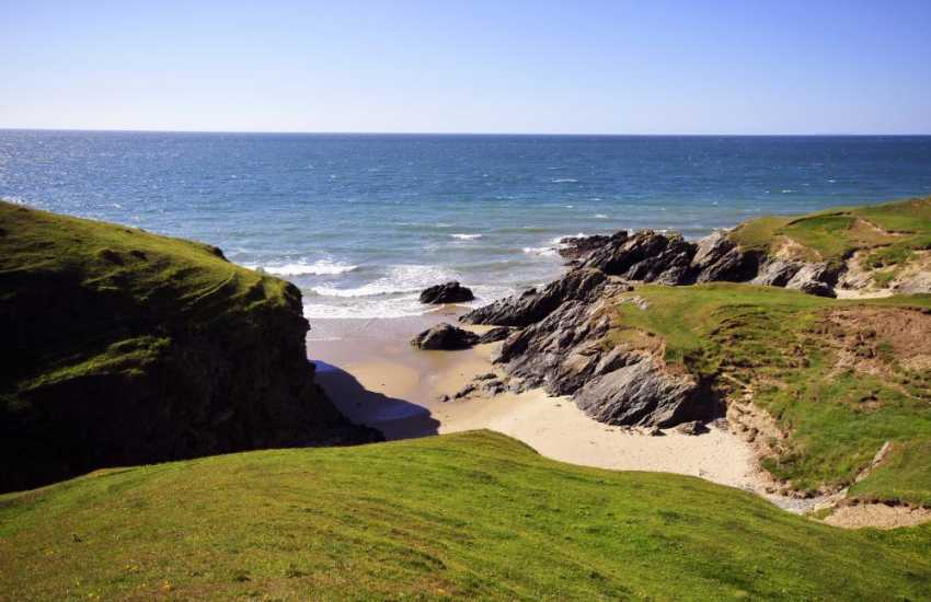 There are many coves to be discovered on foot as you walk along the coastal path on the Lleyn peninsula