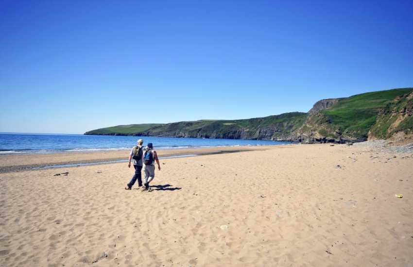 Porth Ceirad sandy beach on the Lleyn Peninsula for walkers and families to enjoy