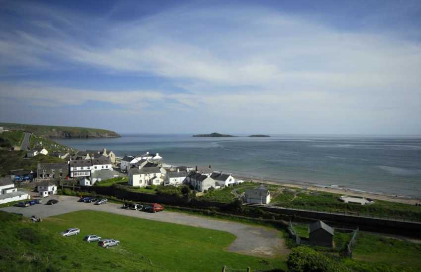 Aberdaron village overlooking the bay