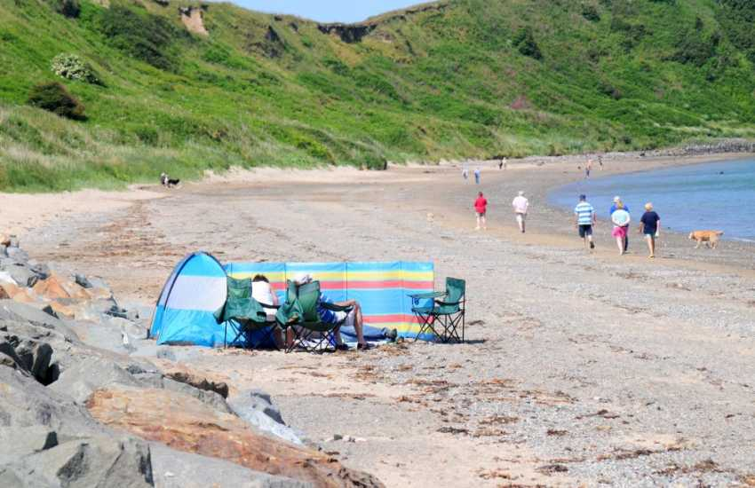 Take a gentle stroll along the shores of Morfa Nefyn Beach