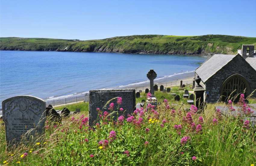 Aberdaron, with fabulous views from the church grounds