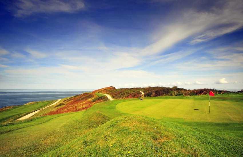 Fabulous coastal views at Morfa Nefyn Golf Course