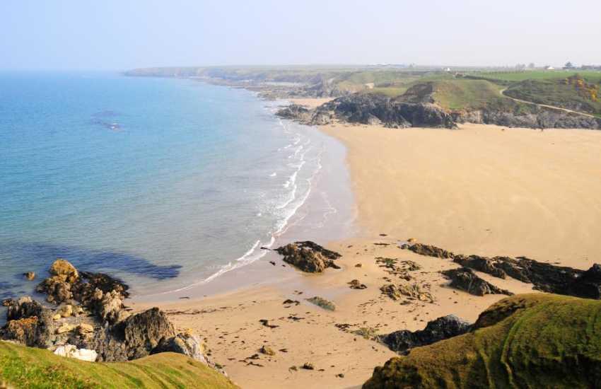 Porth Towyn beach, a short drive from Morfa Nefyn