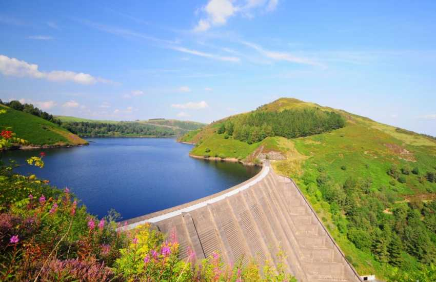 Clywedog Dam in the beautiful mid Wales countryside