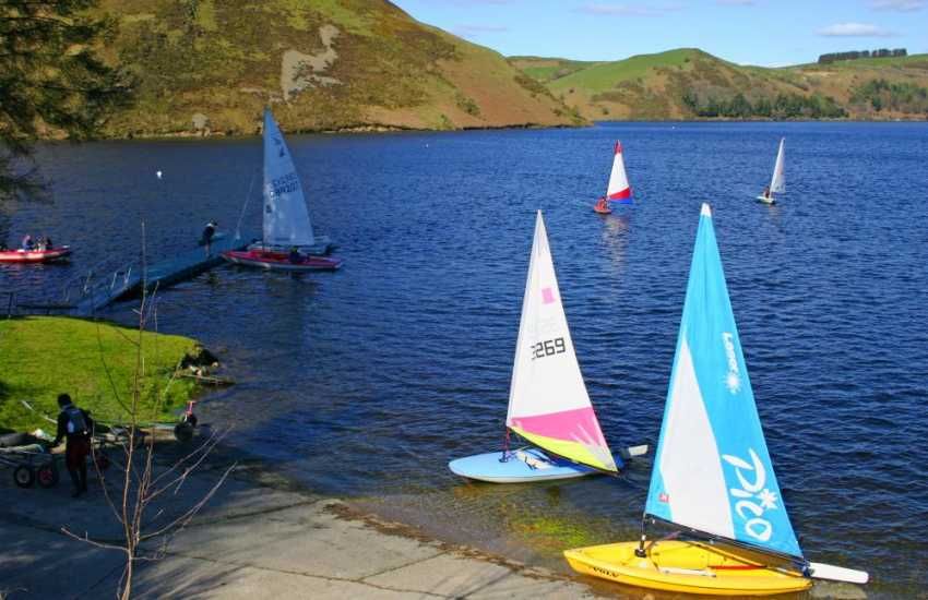 Hire a boat at Clywedog or take your own canoe
