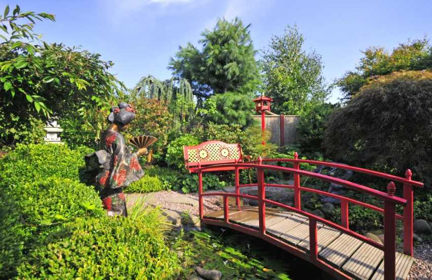 Derwen garden centre & themed gardens in nearby Guilsfield