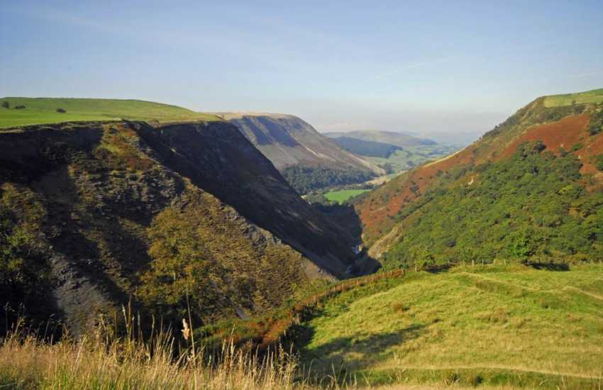 The nearby Cambrian Mountains - Plynlimon and the Elan Valley offer some spectacular walking.