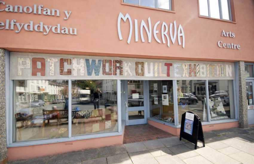 The Minerva Arts Centre in Llanidloes. Here you will find quilt exhibitions and local crafts on sale