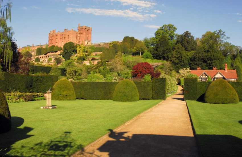 Powis Castle dates from 1200 - its world famous gardens are certainly worth a visit (N.T.)