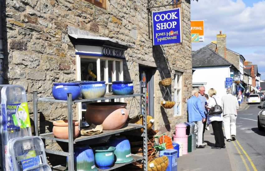 Hay on Wye with its great book shops, galleries and first class eateries