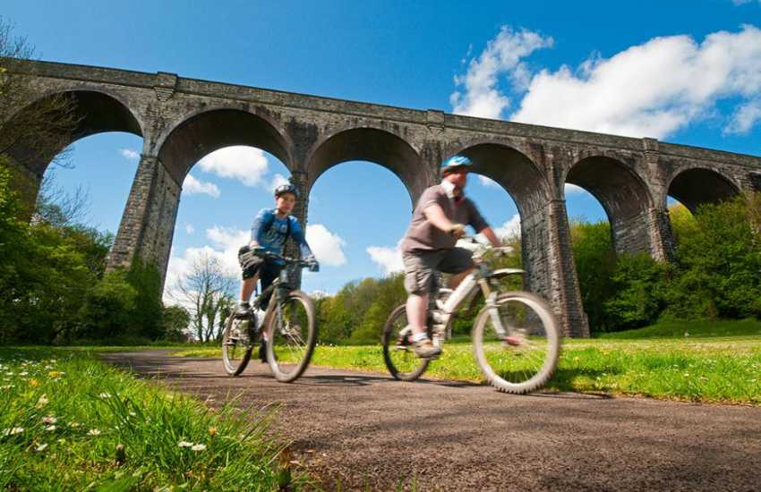 Cycling in Porthkerry Country Park near Barry - 220 acres of woods, meadowland, nature trails, picnic sites, cafe and mini golf.