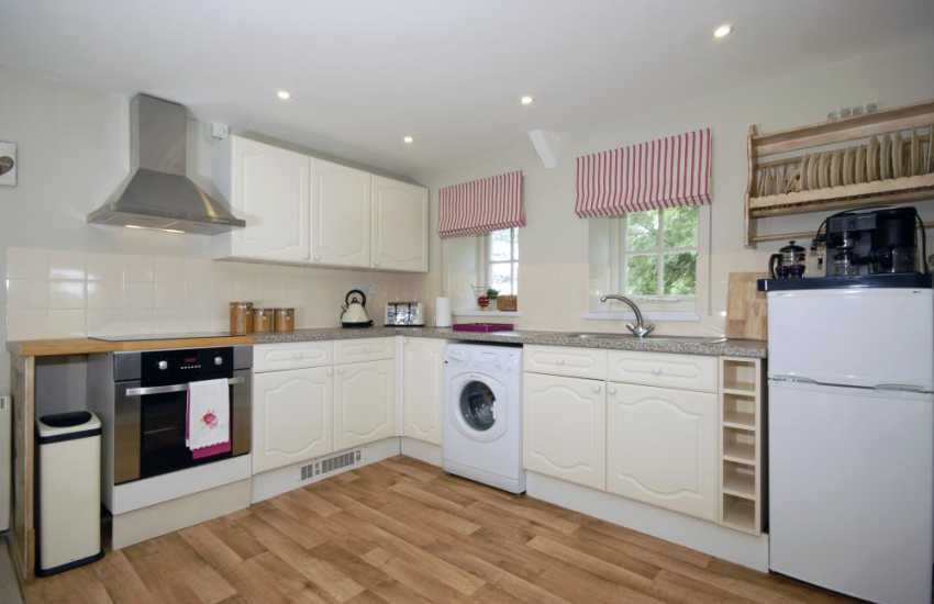 Self catering holiday accommodation near Cowbridge - luxury open plan kitchen dining area