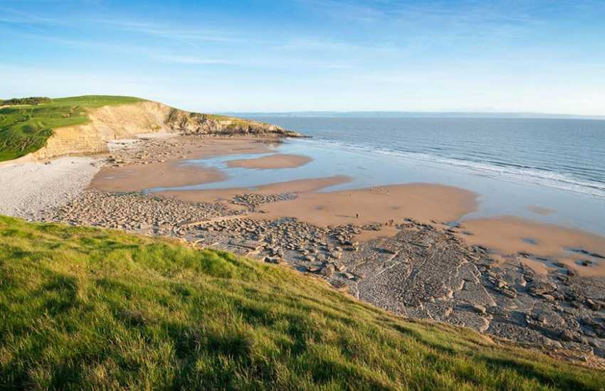 Dunraven Bay (Blue Flag) was once used as a location for filming Dr Who - great for fossil hunting and surfing enthusiasts.