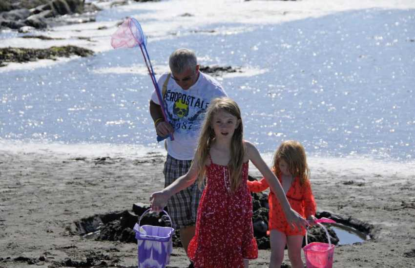 Abereiddy Beach is great for rock pooling and fossil hunting
