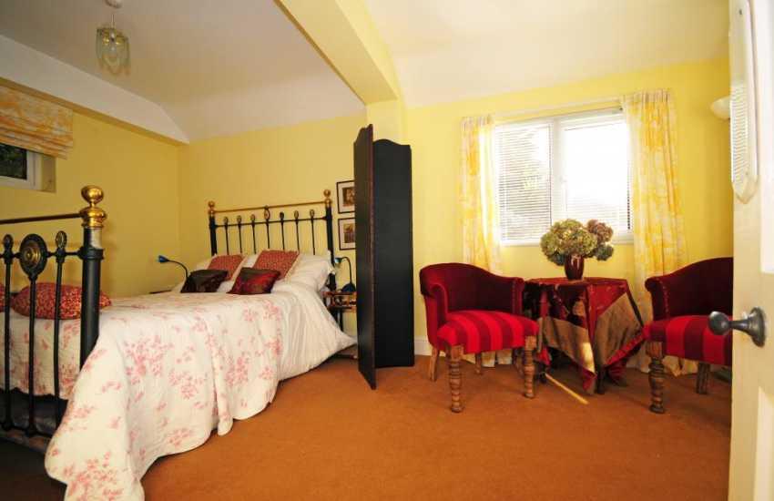 Double bedroom on ground floor in apartment at Hafod Wen