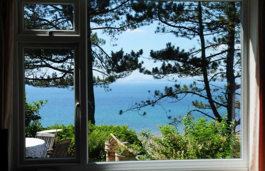 Sea views from North Wales cottage - lounge