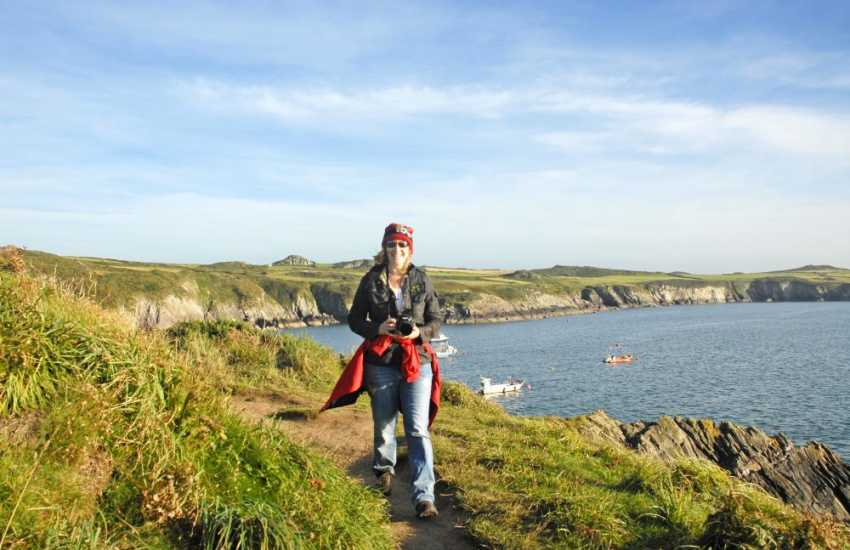 Pembrokeshire Coast Path near St Justinians offers fabulous cliff-top walking