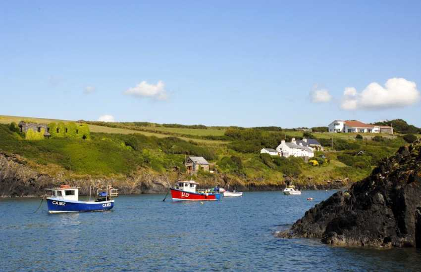 Abercastle - one of many tiny coves dotted along the coast and popular for swimming, diving, kayaking and fishing