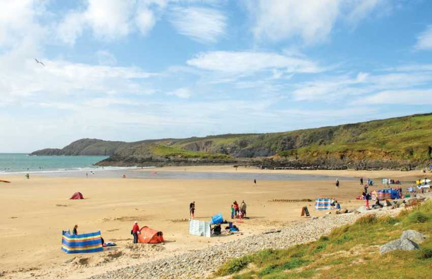 Whitesands Bay (Blue Flag) - a spectacular beach popular with families and water sport enthusiasts