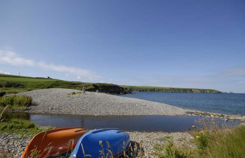 Aberbach Cove - a sheltered pebbled beach only a short drive away