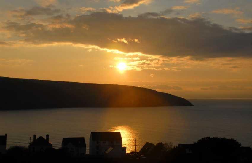 Enjoy beautiful sunsets over the coast