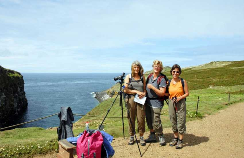 Bird watching on Skomer Island - a day trip offers a real island adventure with wonderful wildlife from spring to  autumn