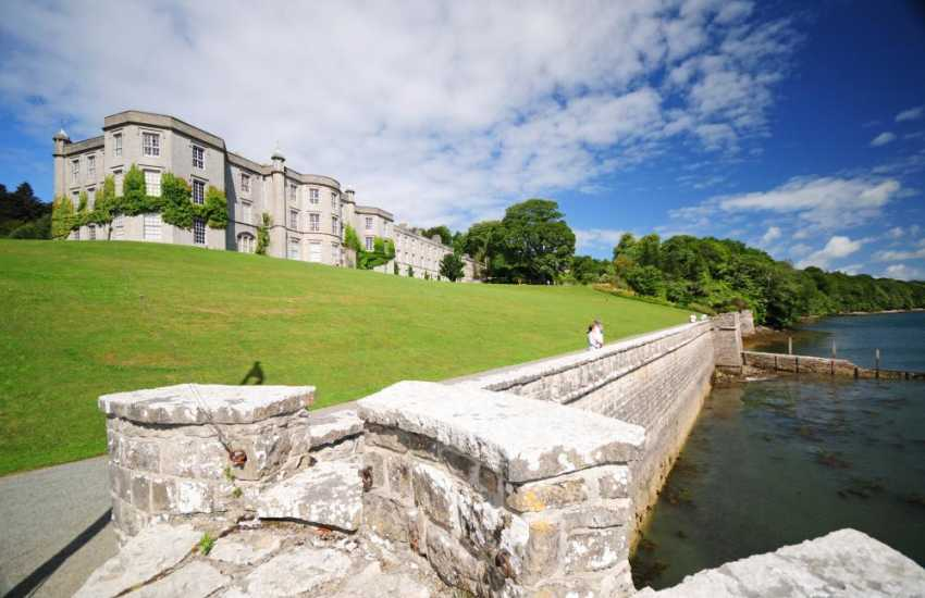 National Trust property with fabulous gardens on the Menai Strait. The cafe serves great food and the Sunday lunches are truly tempting
