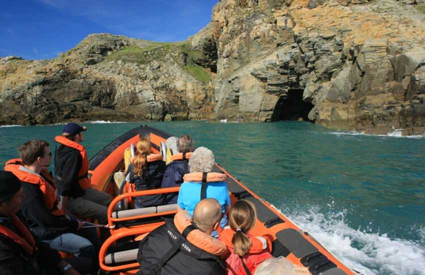 Boat Trips by Thousand Islands Expeditions, Voyages of Discovery, The Big Blue Experience, Ramsey Island Cruises, Aquaphobia Power Boats and Venture Jet all explore the stunningly beautiful north Pembrokeshire coast and its extraordinary wildlife