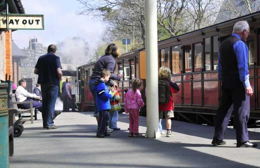Take a trip on one of Wales' great little railways, Welsh Highland, Ffestiniog, Talyllyn or the Snowdon Mountain Railway.