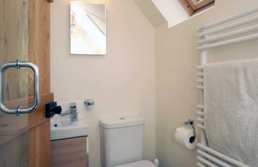 North Pembrokeshire holiday house - rear wing shower room