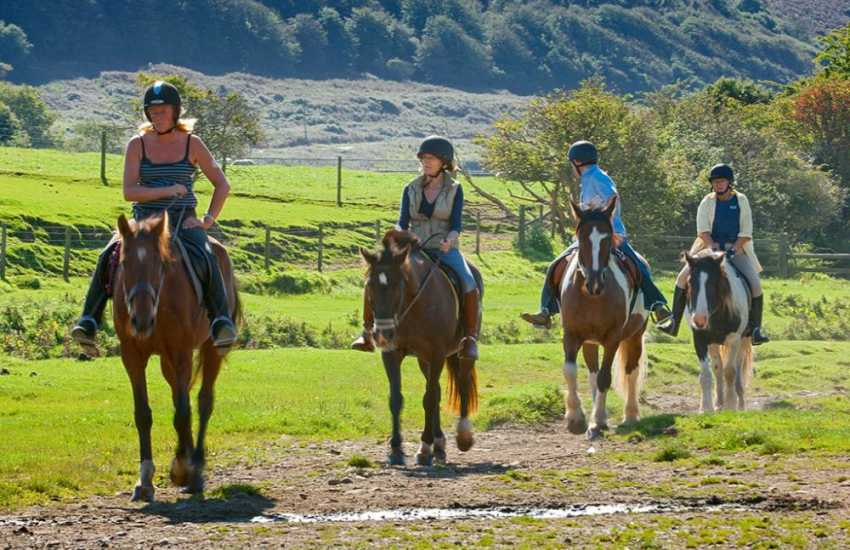 Pony trekking in the Pembrokeshire National Park - Llanwunda Riding Stables nearby cater for all levels of experience