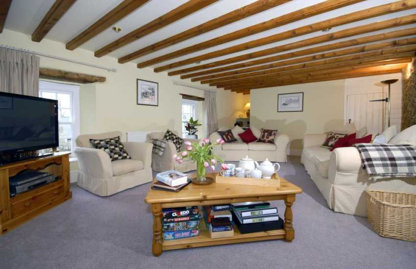 North Pembrokeshire Georgian Manor house - comfortable lounge with WiFi internet