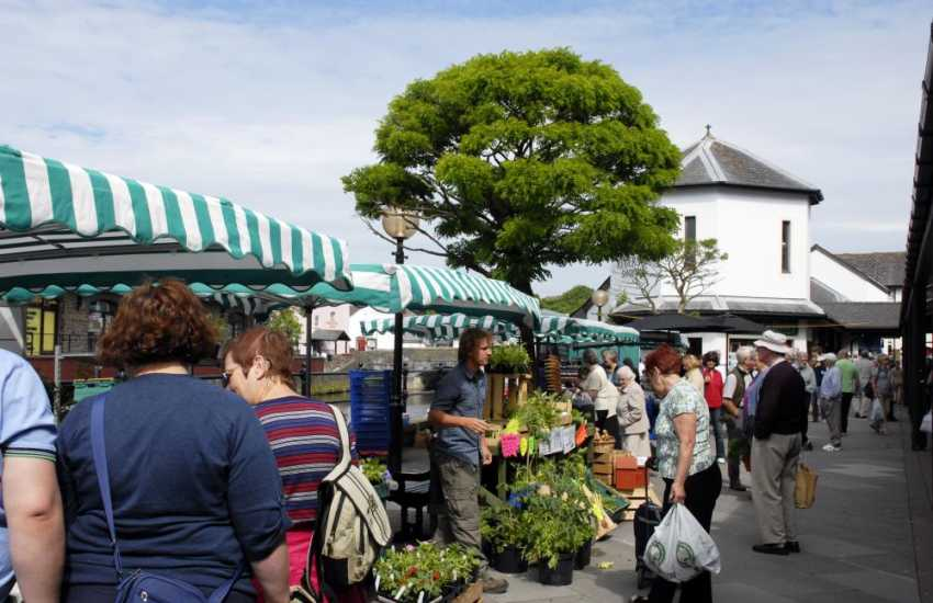 Haverfordwest's weekly Riverside Farmers Market is famed for locally grown Pembrokeshire produce for sale